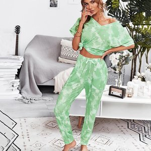 Homewear Two Piece Outfits Temperament Suit 2021 Summer Casual Home Wear Life Female Leopard 2 Set Women Women's Pants