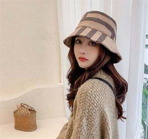 Novo chapéu de balde para homens e mulheres grade clássico impressão moda clássico designer mulheres chapéu novo outono primavera pescador chapéu sun bonés