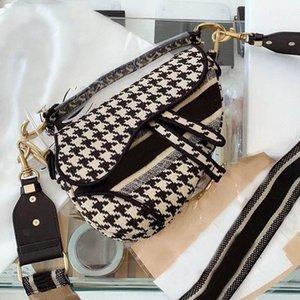 New luxurys designers women's fashion handbag shoulder bag black blue letter embroidered Saddle Bag