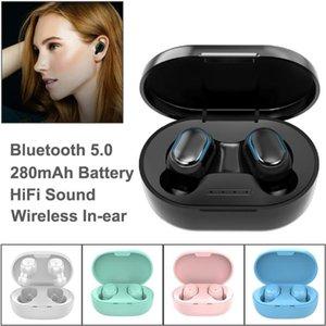 Écouteurs intra-auriculaires TWS A6S Bluetooth 5.0 imperméable coloré Emission de Sound Sound Sound Sound Selling Wireless Écouteurs Boîte de détail