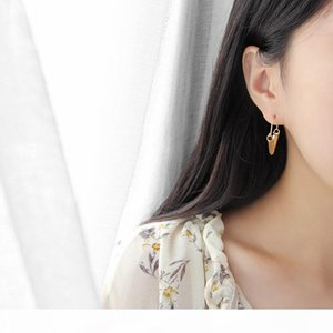 Real 100% 925 Sterling Silver V Shape Geometric Earrings For Women Hanging Dangle Drop Earing Fine Jewelry Gifts YME289