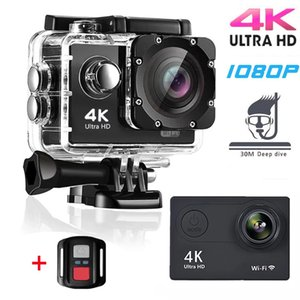 Original H9 Action Camera Ultra HD 4K 30fps WiFi 2.0-inch 170D Underwater Waterproof Helmet Video Recording Cameras Sport Cam 210319