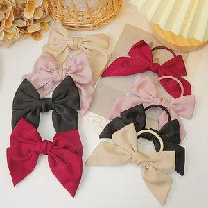 Fashion Pure Color Satin Bowknot Taillot per donna Red Bow Rosso Anatroccoli Capelli Clip Clip Girls Headwear Accessori per capelli