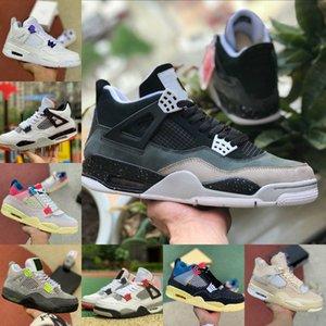 2021 Высокие 4 4s Баскетбольные Обувь Мужчины Женщины Крем Смены Белый Цемент Разводной суд Фиолетовый Союз La Guava Ice Rasta Bordeaux Спортивная обувь GL781
