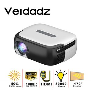 VEIDADZ RD860 Mini LED Portable Movies Projector 640*360 Pixels with HDMI USB AV Audio Interfaces for Home Theater Entertainment