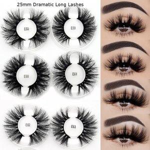 VISOFREE 25mm Wimpern Make up Criss-Cross Mink Wimpern Dramatic Long Maquillaje Faux Cils Beauty 3D EyeLash Extension Bulk False