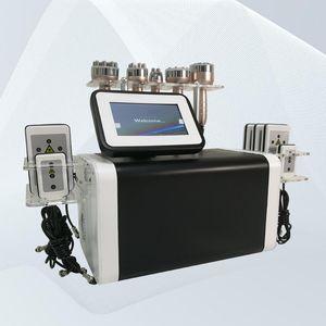 6 in 1 Körperfettverlust Vakuum Abnehmen 80k Kavitation Cellulite-Entfernungsmaschine mit 130mw Dioden-Laser-Pads
