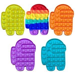 Entre nós reversíveis Flip Push Pop It Bubble Sensory Fidget Toy Autismo Especial Precisa Stress Rever, Esprema Grande Para Crianças Brinquedos
