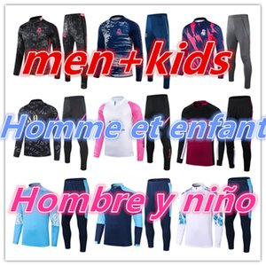 Kids + Mens Adulto 20 21 Treinamento de Futebol Futebol Futebol Jerseys Tracksuits Terno 2021 2022 Real Madrid Survitement Foot Chandal Jacket Kit jogador