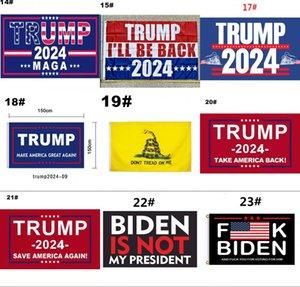 Trump 2024 bayrak ABD başkanlık kampanyası bayrak 90 * 150 cm 3 * 5ft afiş bayrak ev bahçe bahçesinde 13 stilleri için toptan