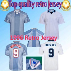 1996 ENG Retro Fútbol Jersey Gascoigne Shearer McManaman Land Southgate Classic Vintage Sheringham 96 98 Home Weew Beckham Football Shirt
