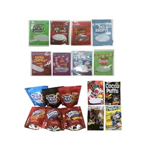 Cereal MyLar Sac Emballage 500 mg Vide Traitement de Capn Crunch Camnch Pomme Cocoa Puffs Chanceux Charmz Krispies Boasted Riz Trix
