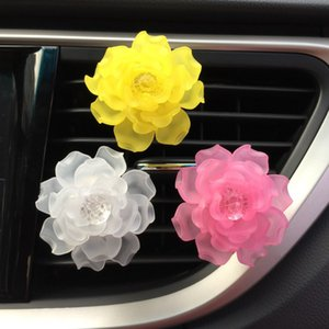 Car Air Outlet Perfume Clip Frosted Camellia Alloy Conditioner Aromatherapy Interior Accessories 2021 Year Free DHL