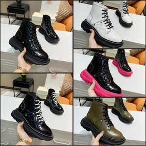 Classic Women Martin boots real Leather dress shoes Loafers lace up fashion womens shoe luxurys designers trainers with box Size 35-41