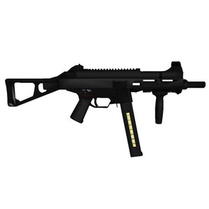 1:1 Scale HK UMP45 Submachine Gun Model Papercraft Toy DIY 3D Paper Card Military Model Handmade Crafts Toys for Boy Gift