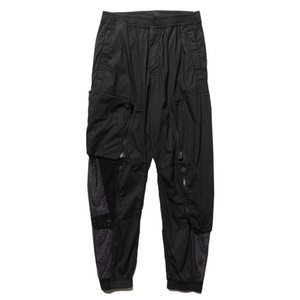 TOPSTONEY Summer mesh ventilation couple casual pants loose, pure black fashion men's sports jogging tide brand