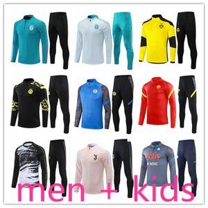 2021 kids + men football training suits tracksuit kit survetement foot soccer chandal futbol designers tracksuits jogging