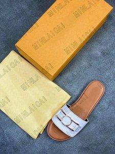 Lock It Flat Mule Slippers Designer Womens Luxurys Designers Sandals Genuine Leather Ladies Dauphine Outdoor Casual Slipper Flip Flops Scuffs