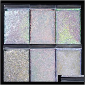 500Gbag White Irregular Sequins Chameleon Shining Manicure Laser Powder Ab Beauty Ppues 2N4Fp