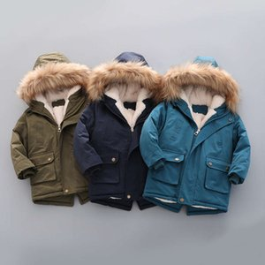 Winter Child Boy Down Jacket Parka Big Girl Thicking Warm Kids Coat 2-9 Year Faux Fur Hooded Baby Outerwears Children Clothing