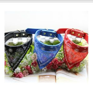 dogs collars lead Adjustable Pet Cat Scarf Bandana Neckerchief Mix Colors dog collar 32 H1