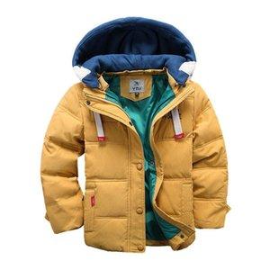 Abouze детей вниз Parkas 4-10T зимняя детская верхняя одежда мальчики повседневная теплый пиджак с капюшоном для твердых пальто