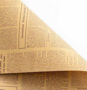 Газета Florist Wrap Flower Букет Подарочная упаковка Упаковочная бумага для День Рождения Валентина День матери Рождественский День благодарения GGA4341