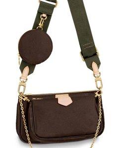 2021 Women handbags bag 3 pieces set of mens wallet flower crossbody bags ladies purses