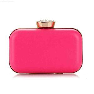 Women Neon Pink Ladies Dinner Bag Chain Female Designer Purse Clutch Quality Mini Coin Bags Party Handbags Diamond