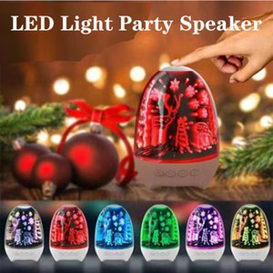 LED Bluetooth Speaker with Pulsating Lights Lighter for room support TF card Portable Outdoor Christmas Party Tower Speakers Universal