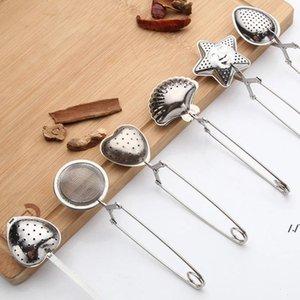 Tè infusore in acciaio inox sfera in rete linea maniglia di teaball utensili per teafilter di teafilter griphandle condimento piatto pallinfuser AHE5538