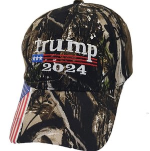 Président Donald Trump 2024 Chapeau Camouflage Ballon de baseball Casquettes Femmes Designers Snapper Snapback Prapeau Maga Biden Summer Sun Visor OWB5894