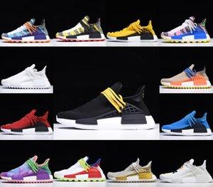 NMD Pharrell Williams Correndo Tênis Solar Pacote Mãe BBC Negro Mens Mens Mulheres Humano Corrida Pula Nerd Creme Sneakers Tamanho 36-46