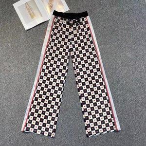 Женские гусеницы брюки и шорты мода стиль свитер нижний улица носит свободную леди капризы ногой буквы напечатаны боковым рисунком Tiger Therouss брюки высокого качества