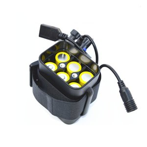 18650 Battery Pack Case Waterproof 8.4V USB DC Charging 6*18650 Power Bank Box for Led Bike Bicycle Light 3 colors