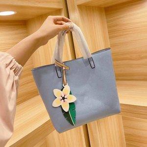2021 الصيف الإناث حمل حقيبة النساء التسوق حقيبة يد الأزياء l إلكتروني الطباعة القديمة زهرة غلق بمشبك الأجهزة القابض حقائب التدرج حقائب اليد