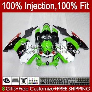 Injection pour Kawasaki Ninja ZX250R EX250R ZX-250 ZX 250R 13HC.48 Factory Green ZX250 2008 2009 2010 2011 2012 EX250 08 09 10 11 12 Catériel