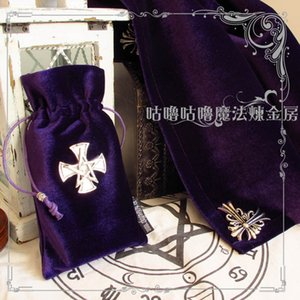 mysterious purple Tarot tablecloth cangyue cross does not touch ash