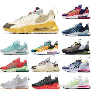 Otantik 270s reaksiyon eng kadınlar erkek koşu ayakkabıları ABD travis scotts kaktüs yolları kahverengi siyah safir volt pembe neon koşu eğitmenler sneakers