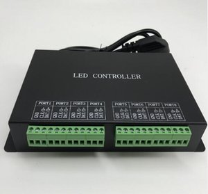 led 8 ports controller,drive max 8192 pixels,connect to PC or master controller,RJ45 port, support dozens of chips, programmable