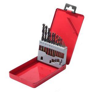 13 قطع المحمولة تويست الحفر بت 1.5-6.5 ملليمتر 13 نوع تركيبة مجموعة مع تخزين مربع عرافة حامل مقبض بت إصلاح الطاقة أدوات اليد المهنية