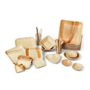 2021 جديد وصول جودة عالية eCoFriendly لوحات العشاء المتاح لوحات خشبية النخيل ورقة لوحات المتاح قابلة للتحلل النخيل ورقة
