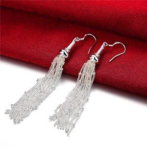 women's sterling silver plated Links18 line earrings Dangle & Chandelier GSSE113 fashion 925 silver plate earring gift