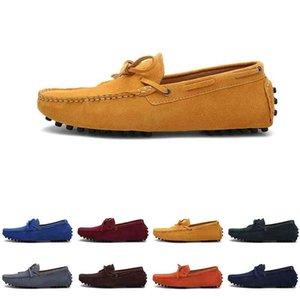Мужчины Повседневная Обувь Espadriilles Трехместный Черный ВМС Браун Вина Красный Зеленый Хэки Оранжевые Мужские кроссовки Открытый Без прогулки