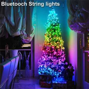 5M USB Fairy String Lights Music Sync Colour RGB LED Strip Bluetooth APP Control Copper Wire Strings Christmas Party Wedding Decoration In Stock