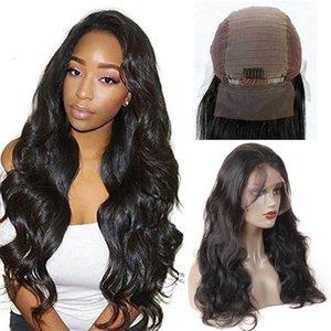Тело волны кружева передние парики предварительно вырванный бразильский человеческий волосы натуральные волосы натуральные шнурки передние парики с детскими волосами чернокожие женщины