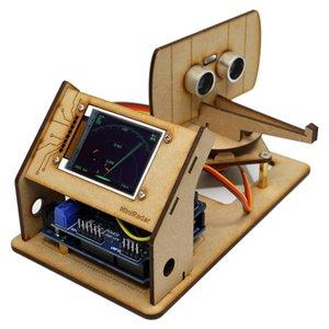 Mini radar ultra-sônico fabricante de radar de código aberto arduino projeto tft tela de detecção de tela robô ciência militar e educação diy