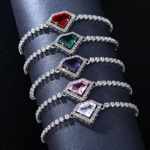 Charm Bracelets Heart Adjustable Tennis For Women Colorful Crystal Bracelet Jewelry Christmas Gift Wedding Accessories KBH142
