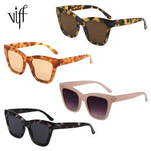VIFF HP18446 Wholale Custom Plastic Shad UV400 Sunglass Women Men 2021 Sun Glass Oversized Square Sunglass 2021