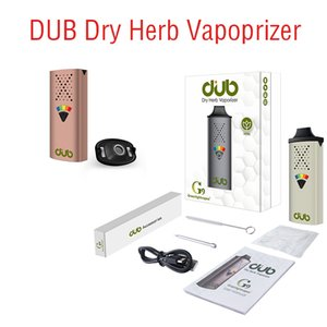 Portable DUB Dry Herb Vaporizer Starter E-cigarette Kits 5 Level Temperature Control Preheat 1100mAh 6 Colors Vape Pen with Type C USB Charging Haptic Feedback